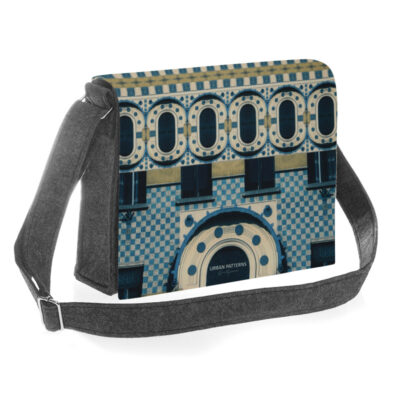 Urban Pattern Blue Bag